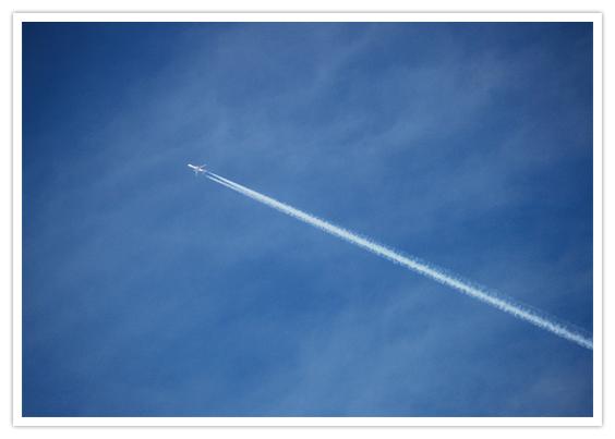 生まれた時の青い空